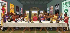 Nba version off The Last Super Basketball Drawings, Basketball Pictures, Basketball Is Life, Basketball Players, Basketball Stuff, Michael Jordan Pictures, Satirical Illustrations, Nba Wallpapers, Hip Hop Art