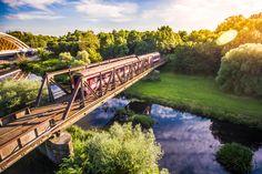 Old Train Crossing the Old Steel Bridge Free Stock Photo - FREE DOWNLOAD: https://picjumbo.com/old-train-crossing-the-old-steel-bridge/ see more: #Bridge, #Forest, #Nature, #Old, #OldTrain, #River, #Steel, #SteelBridge, #Sunbeams, #Sunset, #Top, #Train, #Transportation, #Travel, #Traveling, #Trees, #Vintage, #Woods #freestockphotos #picjumbo