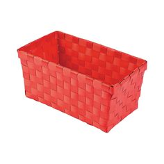 "$15 for 6 Medium Woven Storage Baskets  8 3/4"" x 4 1/2"" x 4"" - OrientalTrading.com"