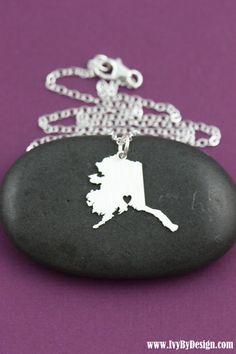 SALE  Alaska Necklace  State Necklace  Alaskan by IvyByDesign