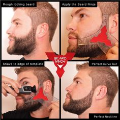 Grooming BEARD NINJA Shaping Shaving Tool Template Face Styling Shaper Guid Line