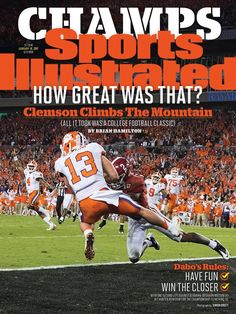 Hunter Renfrow on cover of Sports Illustrated, now on the shelves. Got my copy!!!