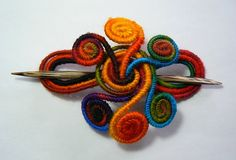 Hair barrette Hair accessory Fascinator by MotuProprio on Etsy, $25.00