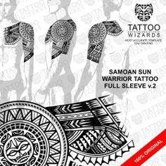 Samoan Warrior Sun Tattoo v.2