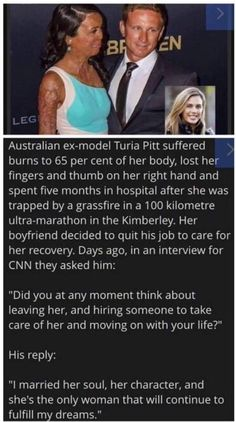 Turia Pitt and her amazing husband!