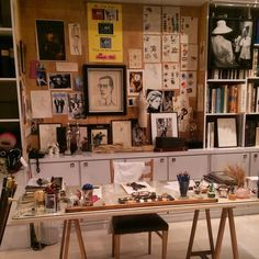 """Visited the House of Laurent and saw Yves Saint Laurents untouched working desk. #saintlaurent #Paris"""
