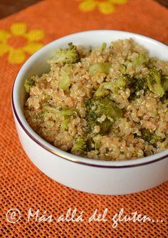Más allá del gluten...: Quinua con Zanahoria y Brócoli (Receta GFCFSF, Vegana)