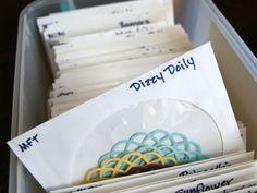 Rangement de découpes - Enveloppe à fenêtre pour CD... Idées pour les échanges (swap) entre scropines!