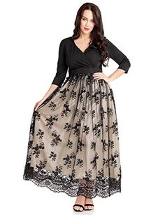 b1e93afddb6 Great for GRAPENT GRAPENT Women s Plus Size Sequin 3 4 Sleeves Evening Gown  Party Long