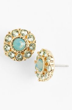 sparkle studs in mint