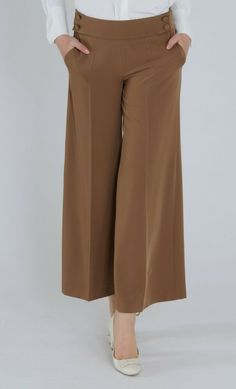 27f7ab7e522 Tugba Wide Leg Trousers Camel Size 38 UK 10 rrp 22 DH088 TT 14  fashion