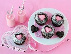 how to: filled heart cupcakes
