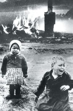 Russian children caught in the Blitz.