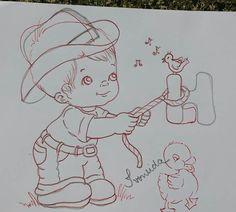 Resultado de imagem para riscos de bebe meninos para pintura em tecido marcia sueli