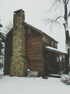 Cabins in winter = love !