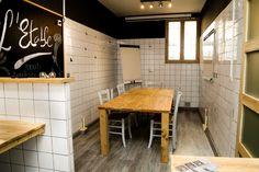 Salle de réunion - bureau fabriqué en palette et bois de récupération