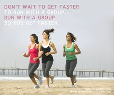 A few girls in my chapter said they wanted to get faster so they could run with us and then I had this thought...