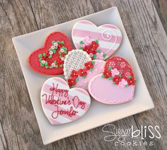 SugarBliss Cookies: SugarBliss Fancy Corazones