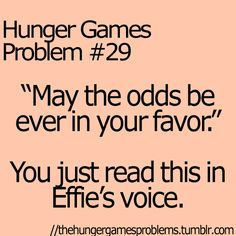 Hunger Games Problems -