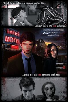 This is my own poster design for the upcoming 'BATES MOTEL' TV show to air next year. Starring Freddie Highmore as Norman Bates & Vera Farmiga as No. Bates Motel tv show Bates Motel Cast, Bates Motel Tv Show, Freddie Highmore Bates Motel, Bates Hotel, Norma Bates, Life Unexpected, Good Doctor, Movies And Tv Shows, Tv Series