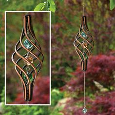 Find garden wind spinners at Bits and Pieces, including our kinetic copper-finished wind sculptures that gracefully spin. These wind decor items are thoughtful Christmas gifts for those who enjoy gardening. Kinetic Wind Spinners, Garden Wind Spinners, Kinetic Wind Art, Metal Garden Art, Metal Art, Glass Garden, Los Dreamcatchers, Wind Sculptures, Garden Sculptures