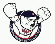 World Baseball, Art Logo, Mickey Mouse, Disney Characters, Fictional Characters, Logo Design, Bear, Cartoon, Image