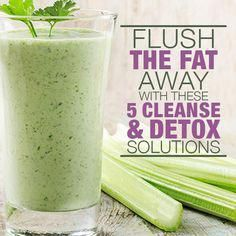 Fat and Cleanse Solutions Flush The Fat Away with these Cleanse & Detox Solutions.The lemon ginger detox drink is my favorite.Flush The Fat Away with these Cleanse & Detox Solutions.The lemon ginger detox drink is my favorite. Smoothie Detox, Smoothie Drinks, Detox Drinks, Cleanse Detox, Detox Juices, Juice Cleanse, Diet Detox, Stomach Cleanse, Celery Smoothie