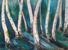The birches are great to paint!:)