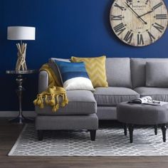 urban barn lure sofa chaise (taylor charcoal) | living room