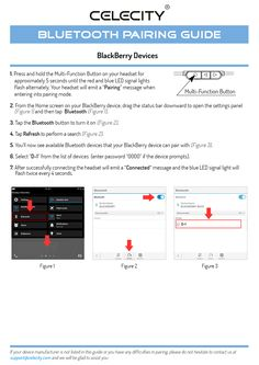 BlackBerry Bluetooth® Pairing Guide