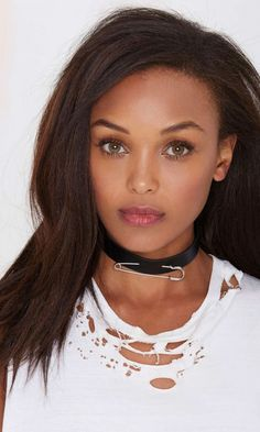 Stick it to 'em in this black vegan leather choker.