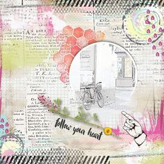 Follow Your Heart, Embellishments, Layouts, Frames, Scrap, Honey, Bullet Journal, Club, Store