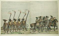 Artist: various, Title: »Triumphzug Kaiser Maximilians« Blatt 43-44, Date: 1526, Note: colouring done in 1765 by Josef Hoeger