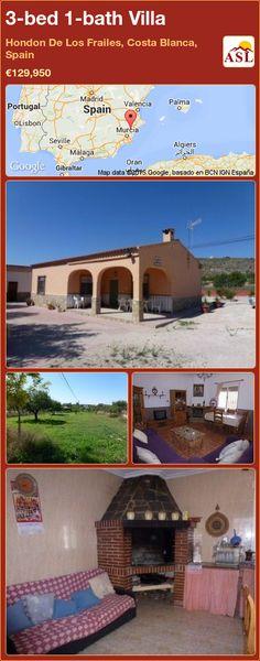 3-bed 1-bath Villa in Hondon De Los Frailes, Costa Blanca, Spain ►€129,950 #PropertyForSaleInSpain
