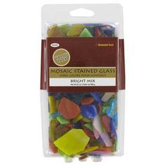 Bright Stained Glass Mosaic Pieces