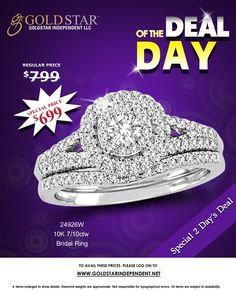 Find amazing deal on Diamond Bridal Ring by Gold Star Independent LLC.