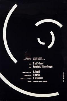 Muller-Brockmann, Josef  Schmid, Schneeberger - Vivaldi, Martin, Schumann, 1953    27.5 x 39.2 inches (70 x 100 cm)  Lithograph  Inventory #SWL14655