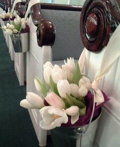 aisle markers and have toss one while flower instead of petals... Easier clean up