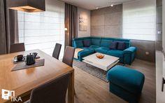 PROJEKT BESTWINA - Średni salon z jadalnią, styl nowoczesny - zdjęcie od TIKA