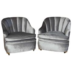 Art Deco 1920s Tub Club Chairs | From a unique collection of antique and modern club chairs at https://www.1stdibs.com/furniture/seating/club-chairs/