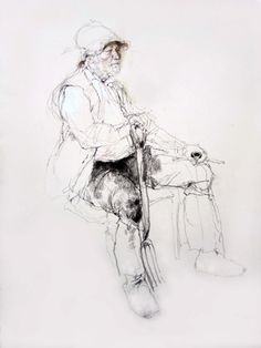 Victor Ambrus Drawings from Life - The Gardener