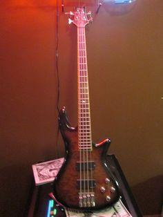 2005 Schecter Stiletto Elite 4 Electric Bass Guitar Grey Mist Chrome NeckThrough