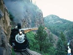 Durango and Silverton Narrow Gauge Railroad, Colorado; we went rafting with the boys in the river below