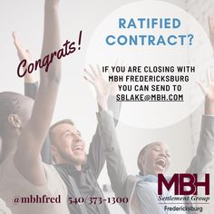 Ratify a contract over the weekend? 💃🥂 Congratulations!! Lets get the ball rolling.   𝗪𝗵𝗮𝘁 𝗱𝗼 𝘄𝗲 𝗻𝗲𝗲𝗱 𝗳𝗿𝗼𝗺 𝘆𝗼𝘂? 🏠 Contract & all addendums 🏡 Lender's contact info (we will reach out to them) 🏘 Your clients contact info (emails for each & phone #s)  𝗪𝗵𝗲𝗿𝗲 𝘀𝗵𝗼𝘂𝗹𝗱 𝘆𝗼𝘂 𝘀𝗲𝗻𝗱 𝗲𝘃𝗲𝗿𝘆𝘁𝗵𝗶𝗻𝗴 𝗳𝗼𝗿 𝗠𝗕𝗛 𝗙𝗿𝗲𝗱𝗲𝗿𝗶𝗰𝗸𝘀𝗯𝘂𝗿𝗴? 🏘 Sandra Blake - sblake@mbh.com   𝗛𝗼𝘄 𝘁𝗼 𝗴𝗲𝘁 𝘁𝗵𝗲 𝗘𝗠𝗗 𝘁𝗼 𝘂𝘀? 𝘋𝘳𝘰𝘱 𝘣𝘰𝘹… We Need, Weekend Is Over, Congratulations, How To Get, Drop, Let It Be, Phone, Telephone, Mobile Phones