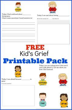 Free Kid's Grief Printable Pack
