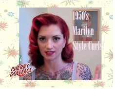 Here I show you guys how to do a cute vintage side part down curly style. This is similar to the style that Lauren Bacall wore in How to Marry a Millionaire....
