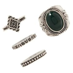 Forever 21 Faux Stone Ring Set ($5.90) ❤ liked on Polyvore featuring jewelry, rings, forever 21, forever 21 jewelry and forever 21 rings