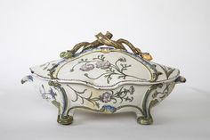 A Marseille Faience Tureen and Cover, circa 1760 Antique Furniture, Glass Vase, Decorative Boxes, Antiques, Gallery, Cover, Christmas, Marseille, Antiquities