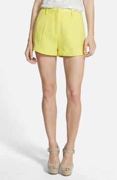 Lucy Paris 'Sunflower' Stretch Woven Shorts available at #Nordstrom