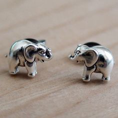 AgHalo - Elephant Earrings - Sterling Silver Post Earrings, $18.00 (http://www.aghalo.com/elephantearrings/)